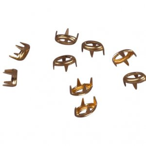 Gold Metal Open Oval Stud- 5mm - 100 pieces