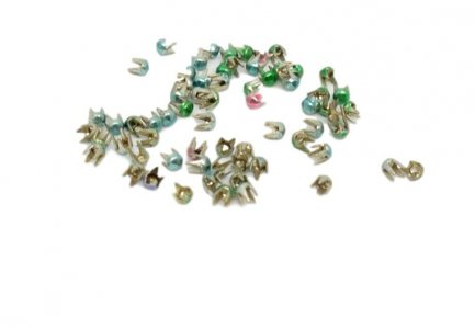 Mixed Colors Metal Round Pyramid Studs - 1mm - 2500 Pieces