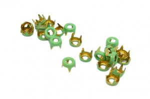 Light Green Metal Open Round Studs - 5mm