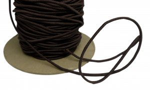 "Brown Stretch Cording - 1/8"" Round - 5 Yds"
