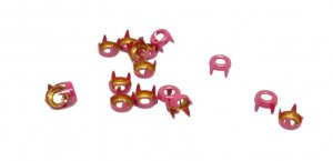 Magenta Pink Metal Open Round Studs - 5mm
