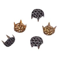 Black Decorative Metal Round Stud 7mm - 50 pieces