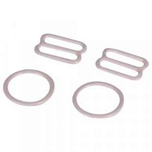 Beige Metal Ring & Slide Set - 1/2 inch or 13mm