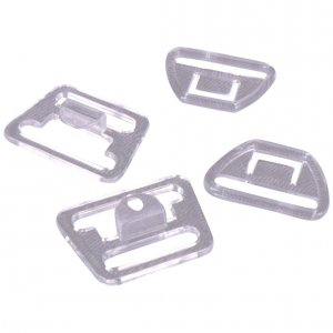 Clear Plastic Nursing Clips - 3/8 inch or 10mm