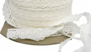 "Off White Vintage Lace - 5/8"" Wide - 3 Yards"