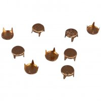Gold Metal Round Studs - 6mm - 100 pieces
