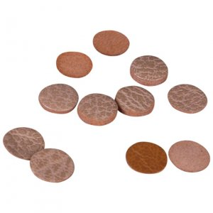 Brown Leather Disks 13mm - 50 Pieces