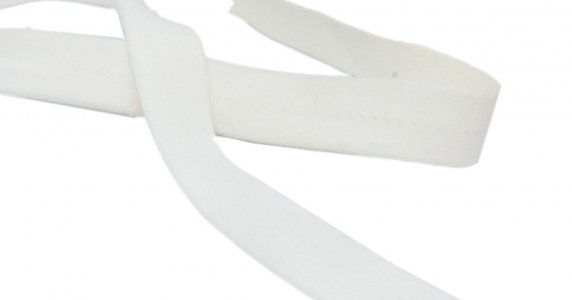 "Dyeable White Stretch Strapping - 22mm or 7/8"" Wide"