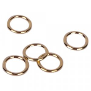 Gold Metal Alloy Rings - 1/4 inch or 7mm