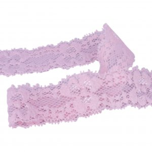 Light Pink Stretch Lace - 1 inch - 5 Yards