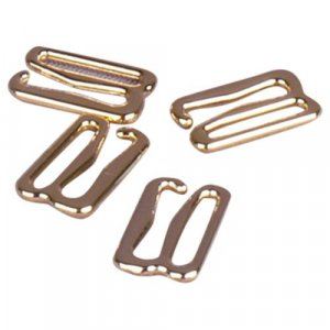 Gold Metal Alloy Slide Hooks - 1/2 inch or 13mm