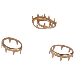 Gold Metal Open Oval Studs - 19mm - 25 Pieces