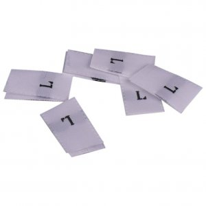 White Size Large Tags - 100 pieces