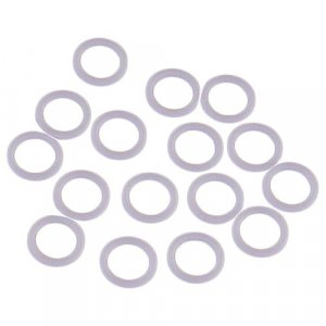 White Plastic Ring - 1/4 inch - Discontinued - 100 Pairs