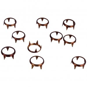 Copper Metal Open Round Studs - 9mm