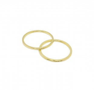 Gold Metal Alloy Rings - 1 inch or 25mm