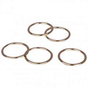 Gold Metal Alloy Rings - 5/8 inch or 16mm