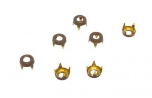 Brown Metal Round Open Studs - 5mm
