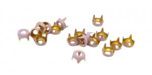 Purple Metal Open Round Studs - 5mm