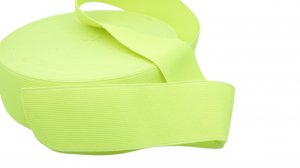 Fluorescent Yellow Elastic - 2 inch - 1 yard