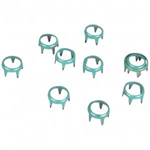 Turquoise Metal Open Round Studs - 8mm