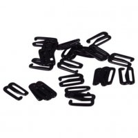 High Quality Black Metal Slide Hooks - 1/2 inch or 13mm