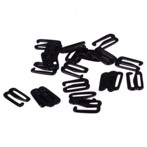 Black Metal Slide Hooks - 1/2 inch or 13mm