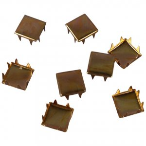 Gold Metal Square Studs - 9mm