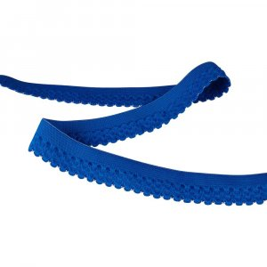 Wide Blue Decorative Fold Over Elastic