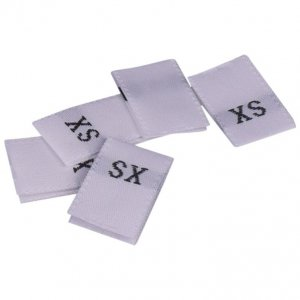 White Size XS Tags - 100 pieces
