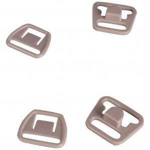 Tan Plastic Nursing Clips - 1/2 inch or 14mm - 10 Sets