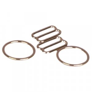 Gold Metal Alloy Ring & Slide Set - 5/8 inch or 16mm