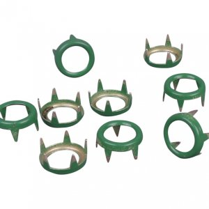 Green Metal Open Round Studs - 9mm