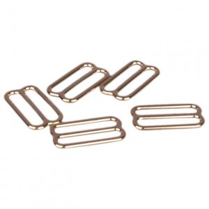 Gold Metal Alloy Slides - 5/8 inch or 16mm