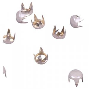 White Round Pyramid Studs - 3mm