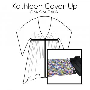 Kathleen Cover Up Pattern with Flower Fabric Kit