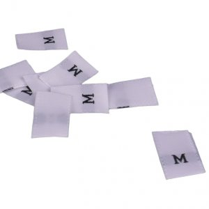 White Size Medium Tags - 100 pieces