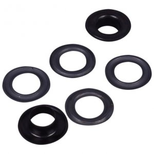 Black Metal Grommet - 3/8 inch - 20 pieces