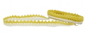 "Yellow and Cream Decorative Lace Trim - 5/8"" Wide - 1 1/2 Yards"