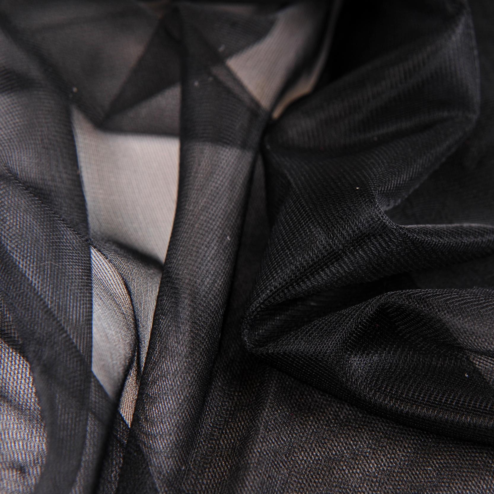 "Black Sheer 15 Denier Cup Lining - 30"" Wide - 1 Yard"