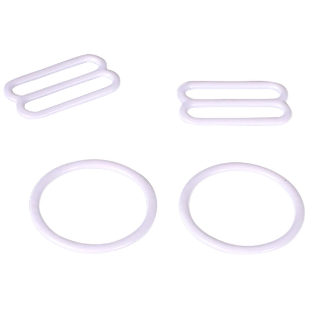 Porcelynne Black Nylon Coated Metal Replacement Bra Strap Slide Hook 2 Pairs Opening 3//4 4 Pieces 18mm